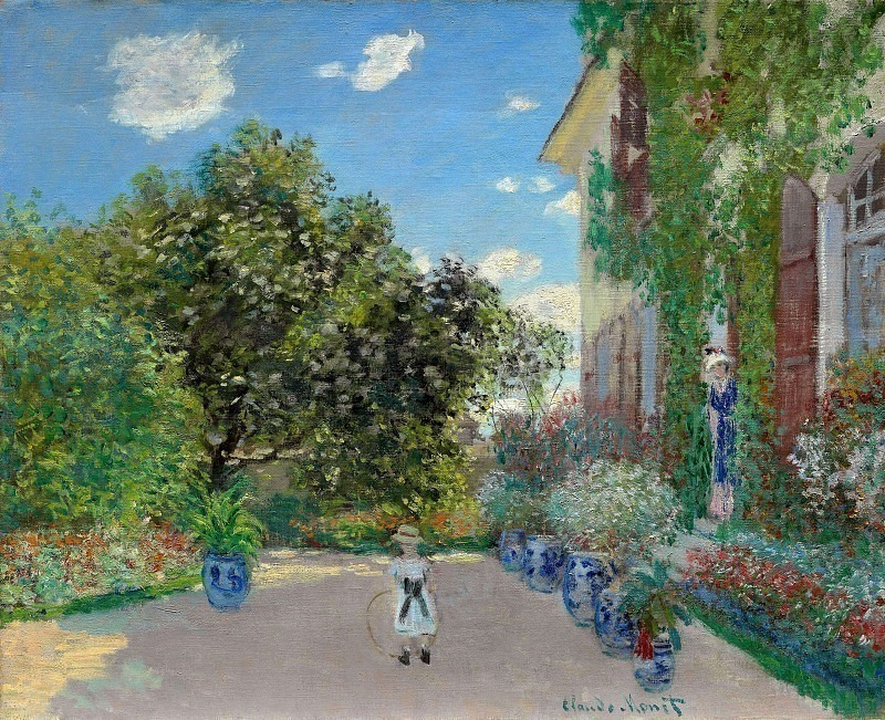The Artist's House at Argenteuil. Claude Oscar Monet