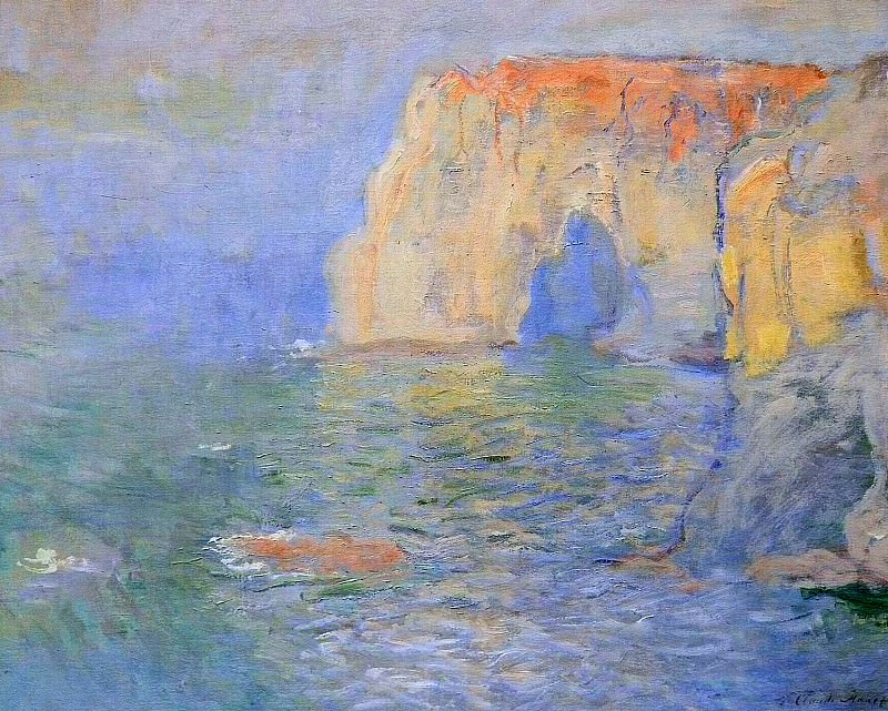 The Manneport, Reflections of Water. Claude Oscar Monet