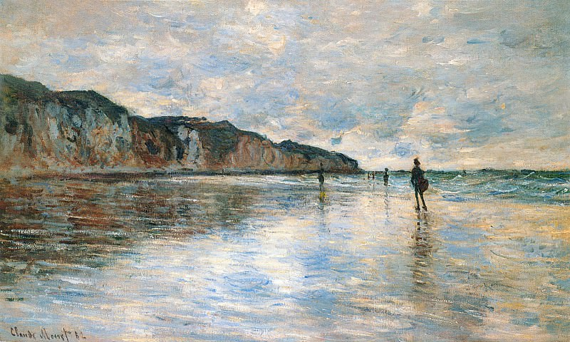 Low Tide at Pourville. Claude Oscar Monet