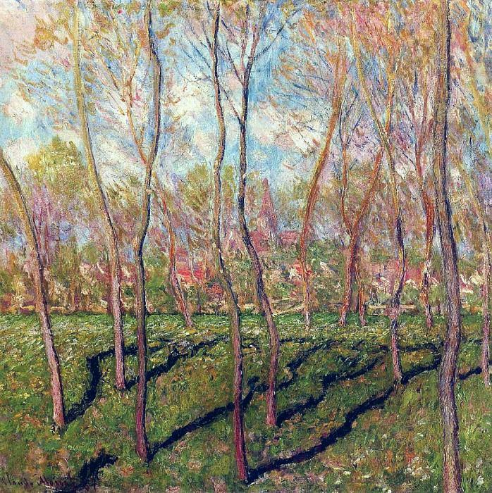 Trees in Winter, View of Bennecourt. Claude Oscar Monet