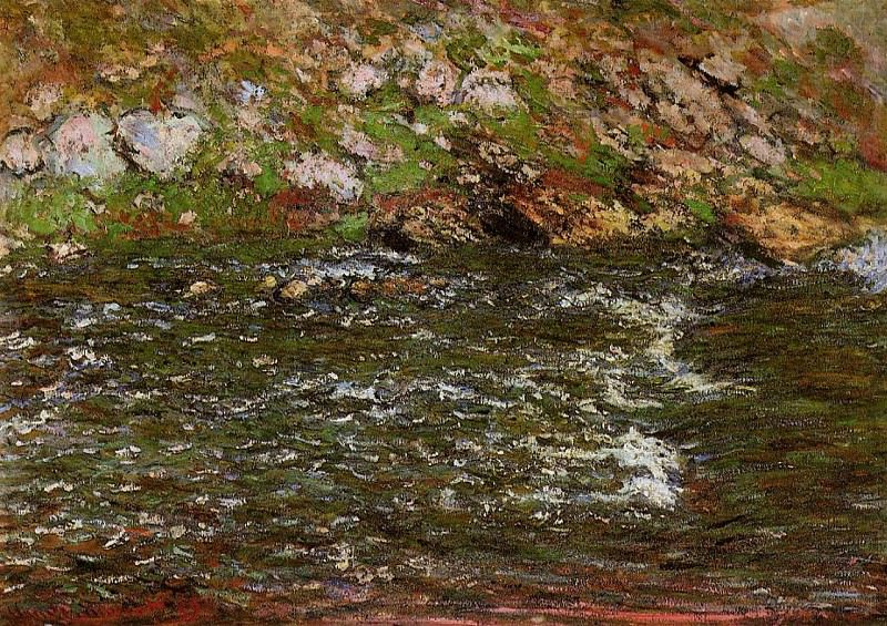 Torrent of the Petite Creuse at Freeselines. Claude Oscar Monet