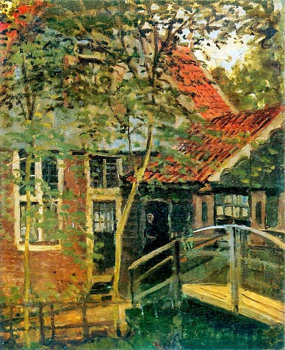Zaandam, Little Bridge. Claude Oscar Monet
