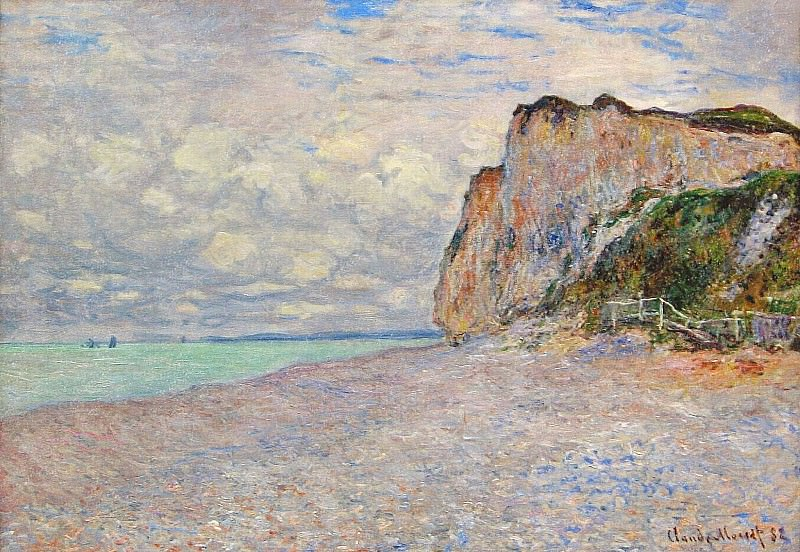 Cliffs near Dieppe. Claude Oscar Monet