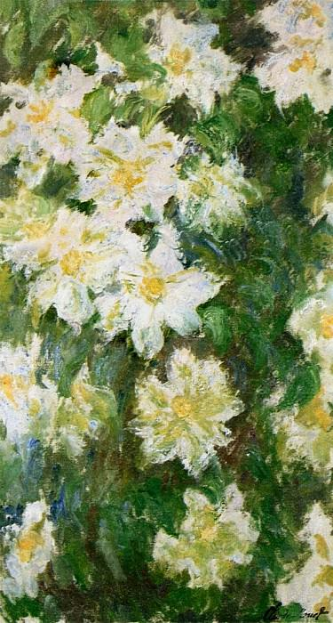 White Clematis. Claude Oscar Monet