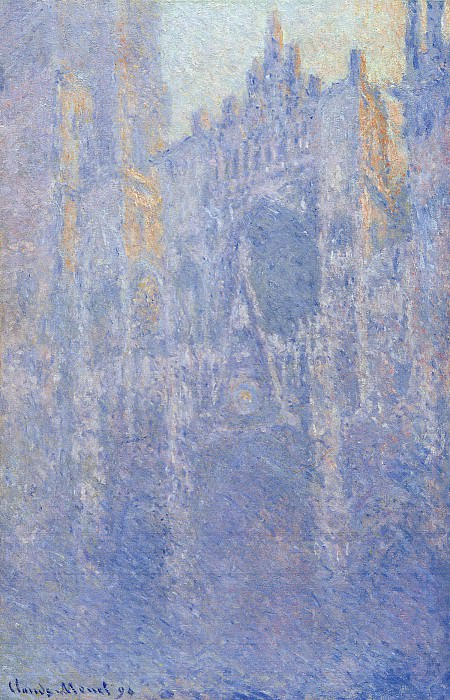 Rouen Cathedral, the Portal, Morning Fog. Claude Oscar Monet
