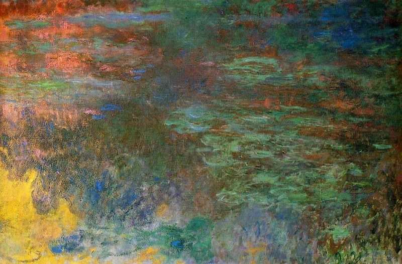 Water Lily Pond, Evening (right panel). Claude Oscar Monet