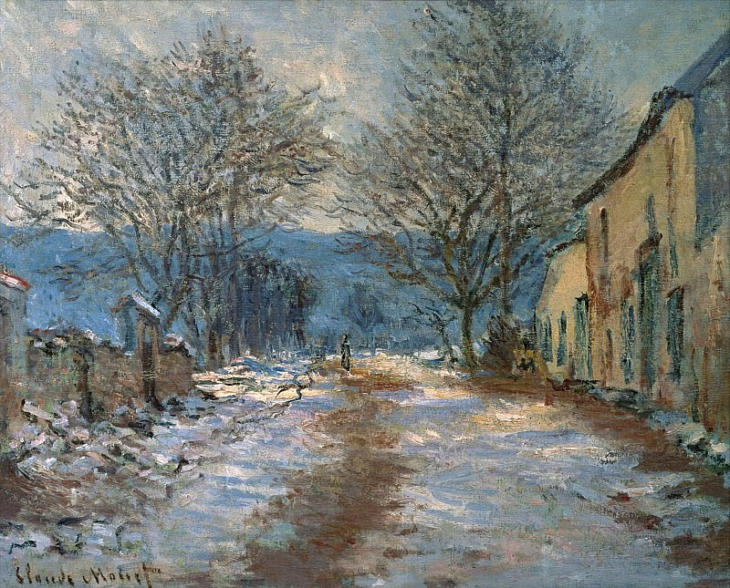 Snow Effect at Limetz. Claude Oscar Monet
