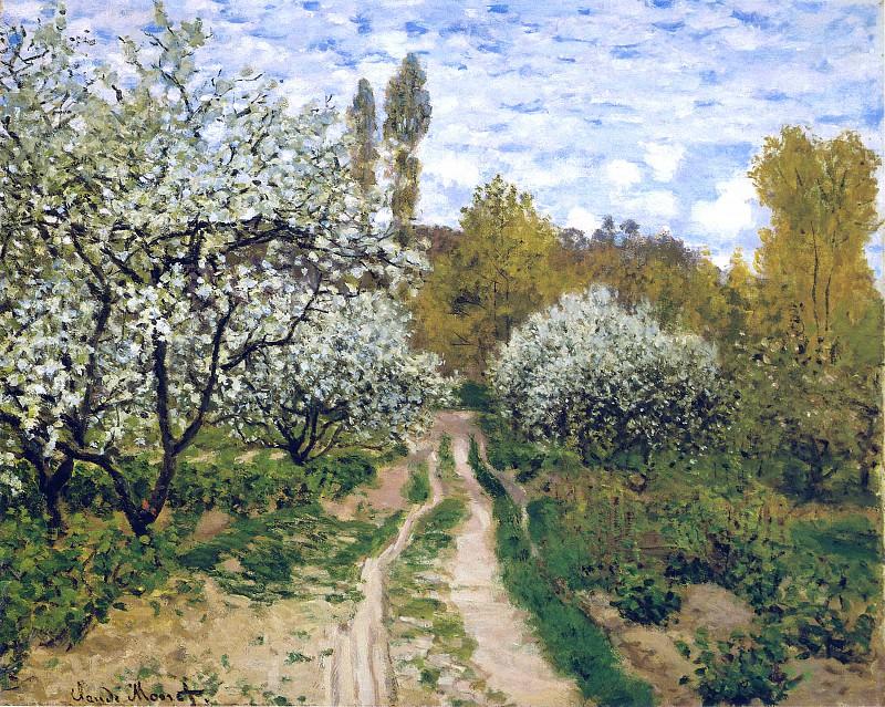Trees in Bloom. Claude Oscar Monet