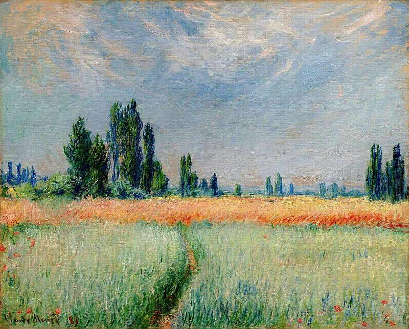 The Wheat Field. Claude Oscar Monet