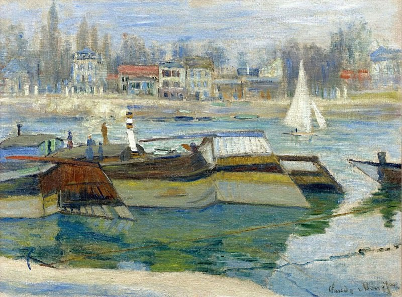 The Seine at Asnieres 03. Клод Оскар Моне