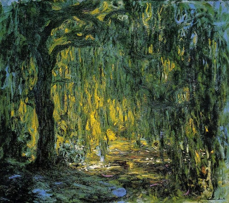 Weeping Willow 2. Claude Oscar Monet
