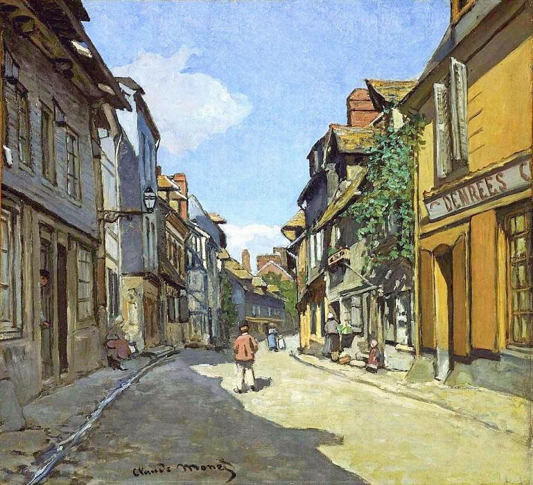 Le Rue de La Bavolle at Honfleur. Claude Oscar Monet