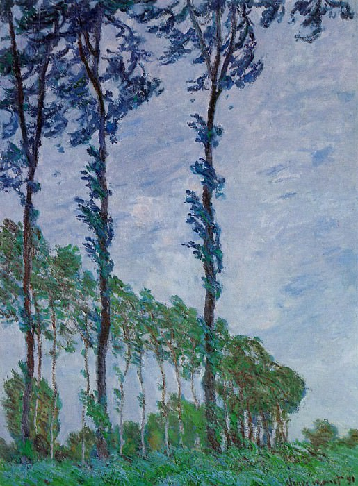 Poplars, Wind Effect. Claude Oscar Monet
