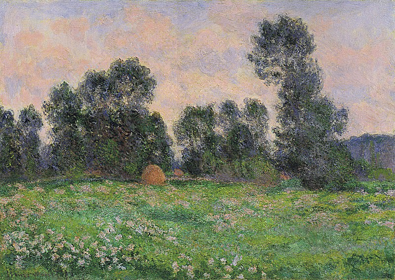 Meadow in Giverny. Claude Oscar Monet