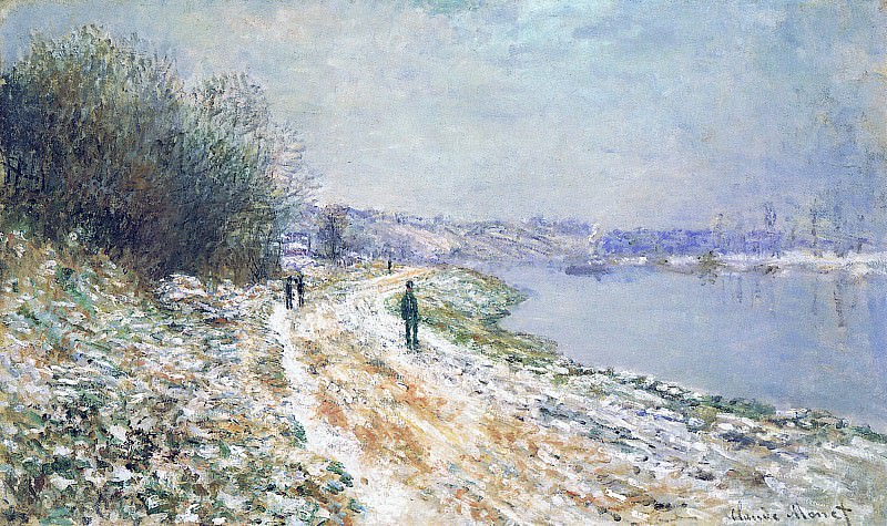 The Tow Path at Argenteuil, Winter. Claude Oscar Monet