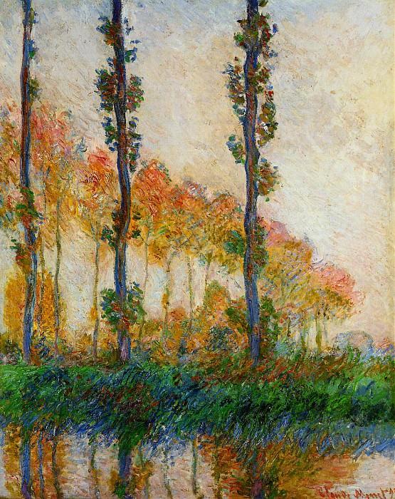 Three Trees in Autumn. Claude Oscar Monet