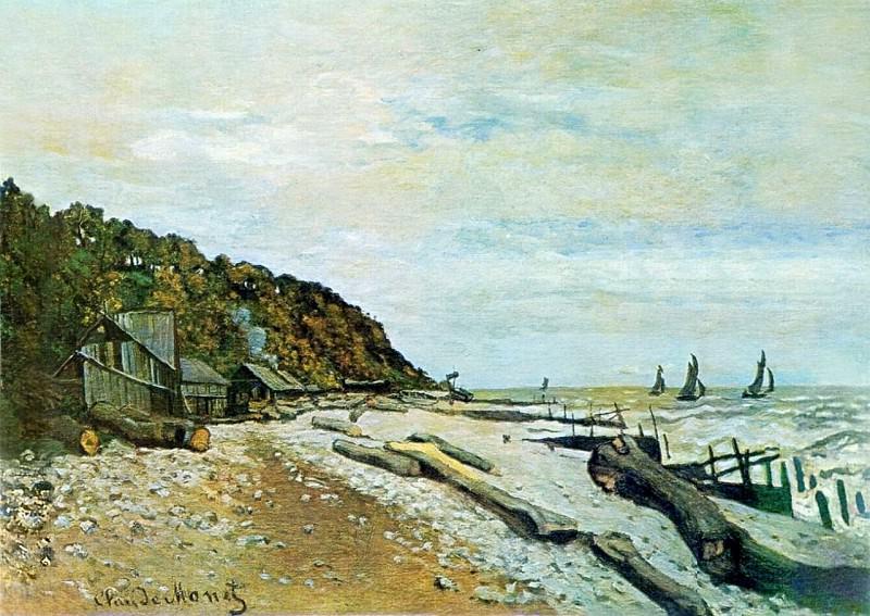 Boatyard near Honfleur. Claude Oscar Monet