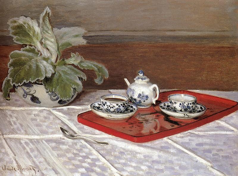 The Tea Set. Claude Oscar Monet