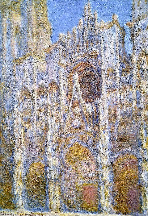 Rouen Cathedral, Sunlight Effect. Claude Oscar Monet