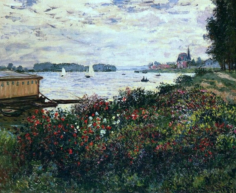 Riverbank at Argenteuil. Claude Oscar Monet
