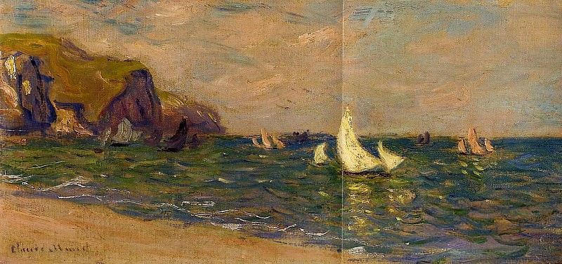 Sailboats at Sea, Pourville. Claude Oscar Monet
