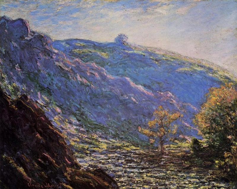 The Old Tree, Sunlight on the Petit Cruese. Claude Oscar Monet