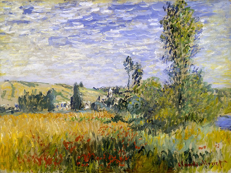 Landscape at Vetheuil. Claude Oscar Monet