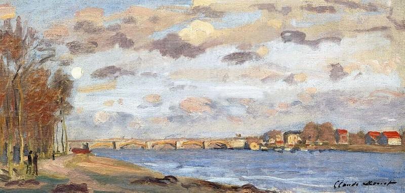The Siene at Argentuil. Claude Oscar Monet