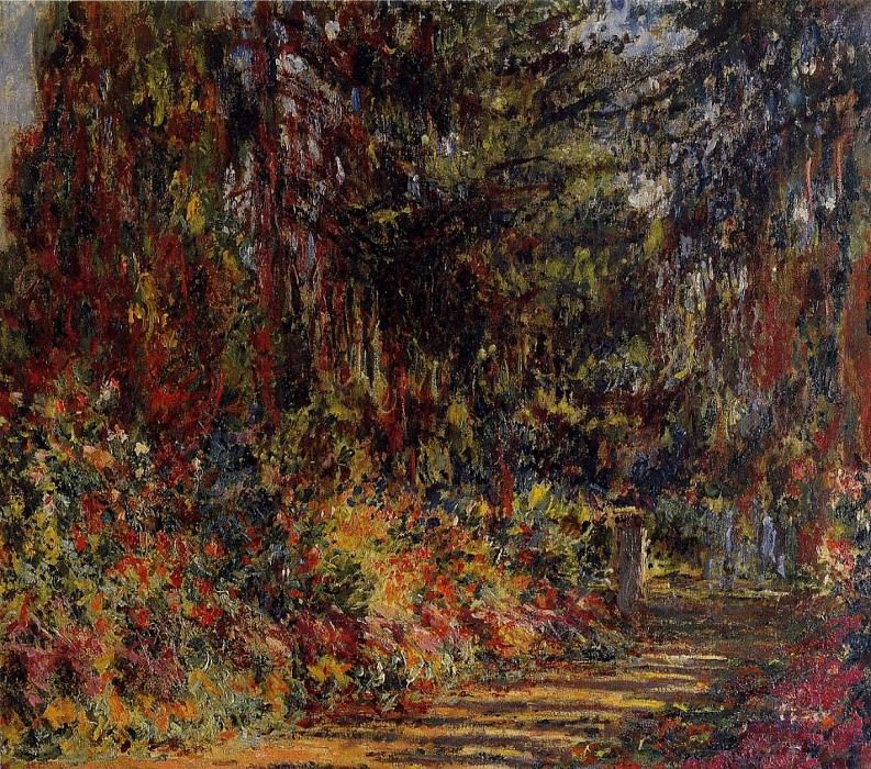 Path at Giverny. Claude Oscar Monet