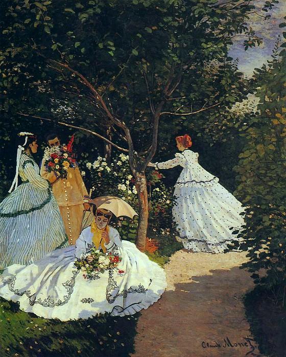 Women in the Garden. Claude Oscar Monet