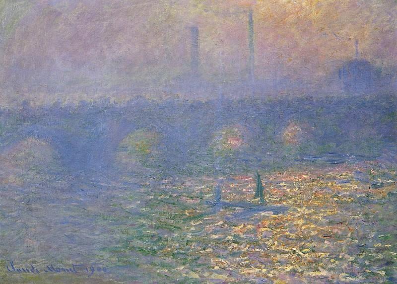 Waterloo Bridge, London. Claude Oscar Monet
