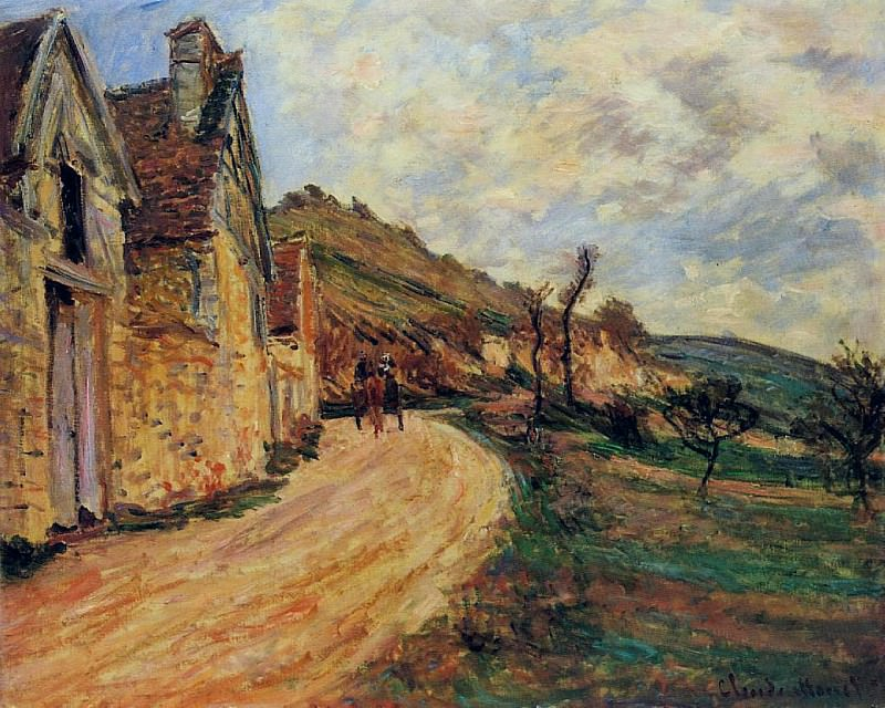 Les Roches at Falaise near Giverny. Claude Oscar Monet