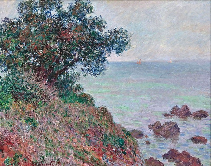 Mediteranian Coast, Grey Day. Claude Oscar Monet