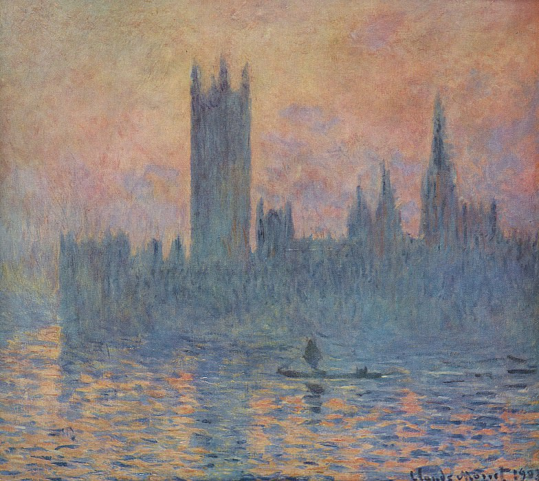 Houses of Parliament in Winter. Claude Oscar Monet