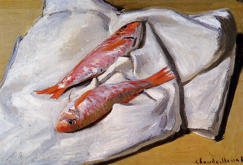 Red Mullets. Claude Oscar Monet