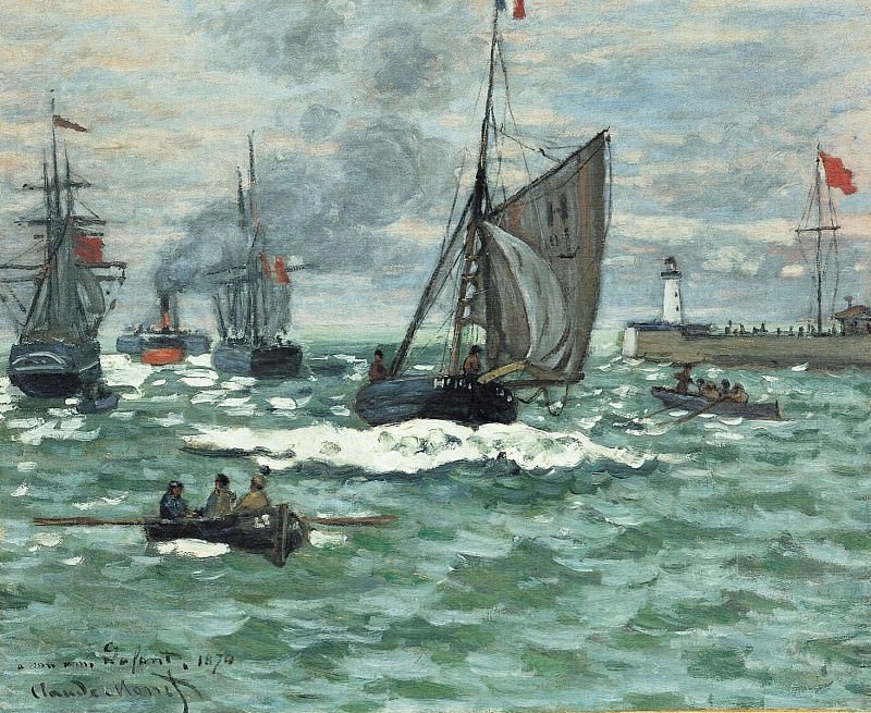 Entrance to the Port of Honfleur. Claude Oscar Monet