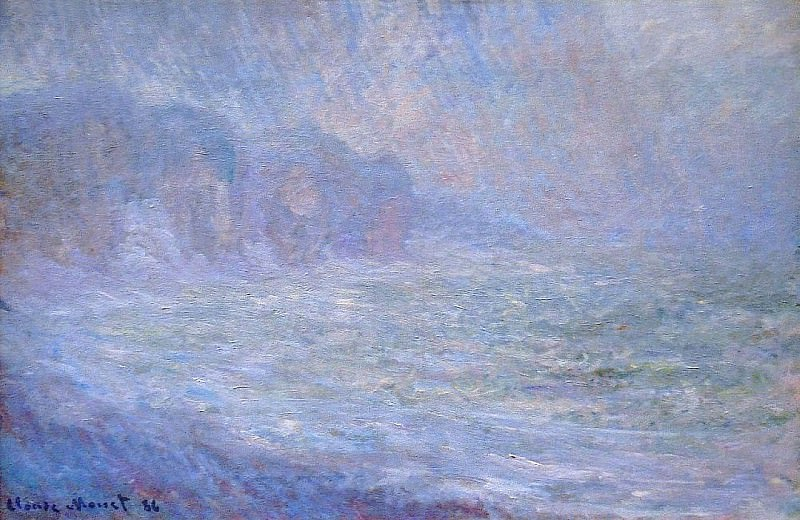 Cliffs at Pourville, Rain. Claude Oscar Monet