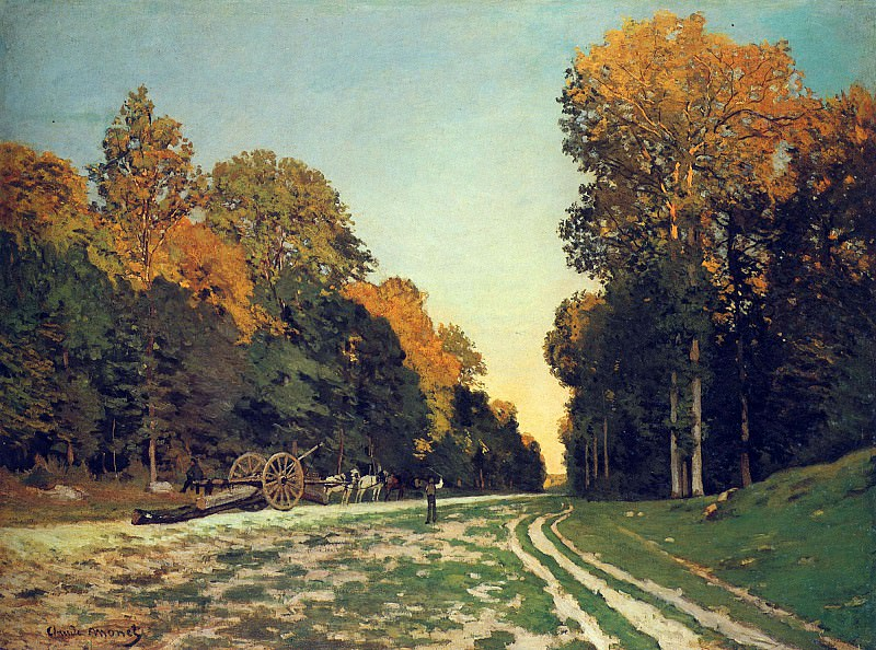 The Road from Chailly to Fontainebleau. Claude Oscar Monet