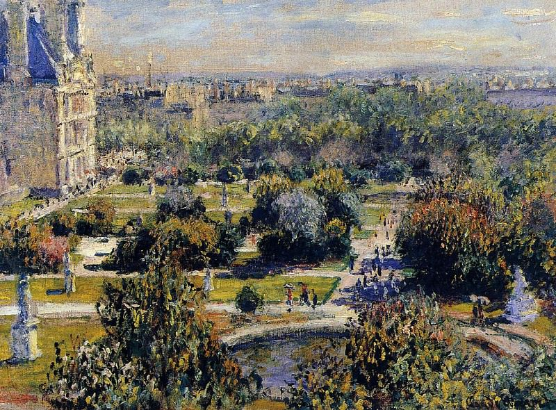 The Tuileries (study). Claude Oscar Monet