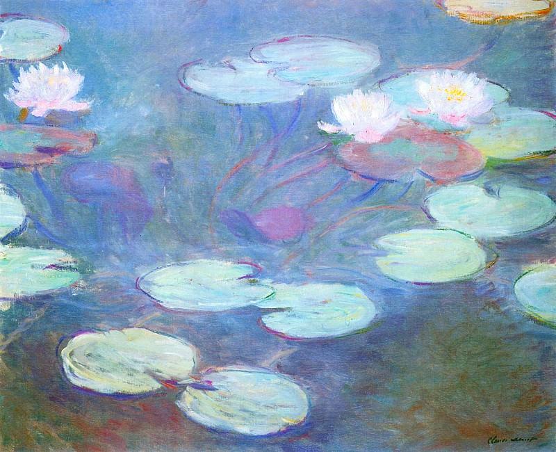 Water Lilies, Pink. Claude Oscar Monet