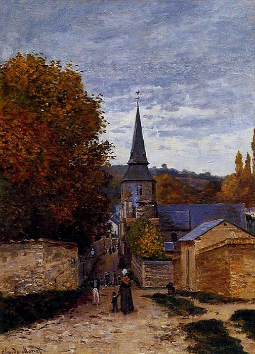 Street in Saint-Adresse. Claude Oscar Monet