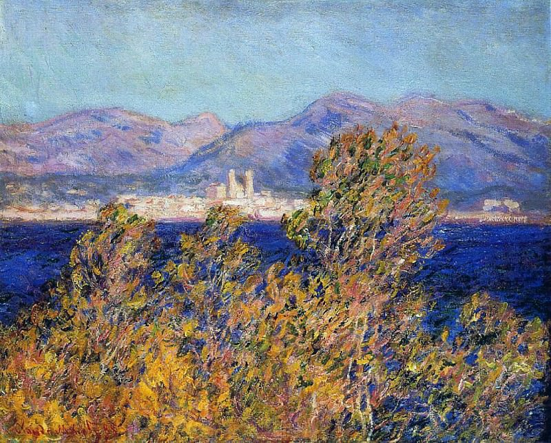 Antibes Seen from the Cape, Mistral Wind. Claude Oscar Monet