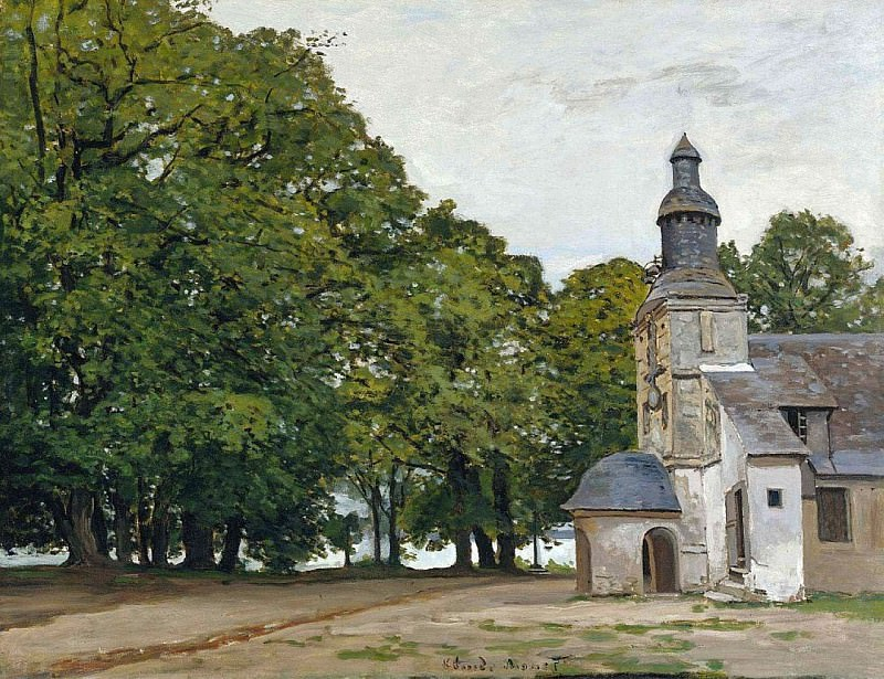 The Chapel Notre-Dame de Grace at Honfleur. Claude Oscar Monet