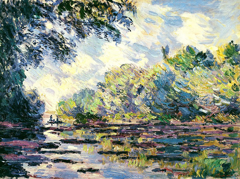 Section of the Seine, near Giverny. Claude Oscar Monet