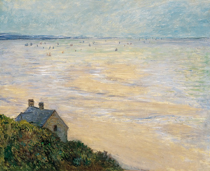 The Hut in Trouville, Low Tide. Claude Oscar Monet