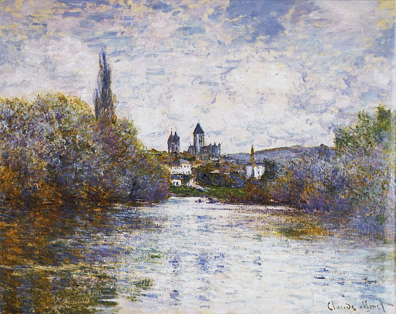 Vetheuil, The Small Arm of the Seine. Claude Oscar Monet