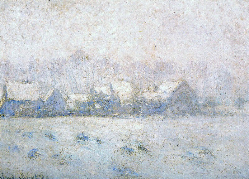 Snow Effect, Giverny. Claude Oscar Monet
