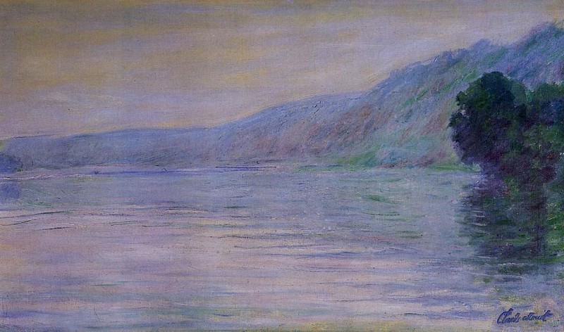 The Seine at Port-Villez, Blue Effect. Claude Oscar Monet