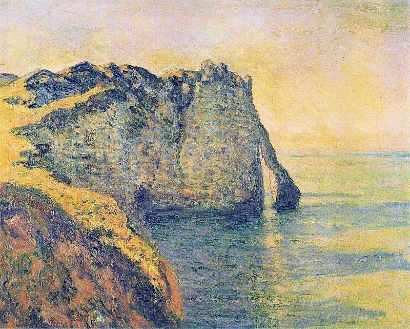 Cliffs of the Porte d'Aval. Claude Oscar Monet