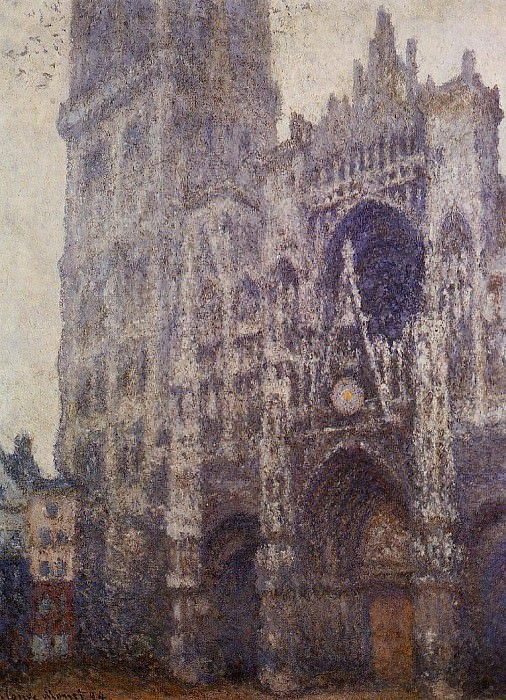 Rouen Cathedral, The Portal and the Tour d'Albene, Grey Weather. Claude Oscar Monet